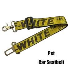 Off Fashion White Dog Leash Car Seatbelt Pet Leash Nylon Dog Safety Car Seat Belt Pet Dogs Pets Accessories Bulldog Pet Product