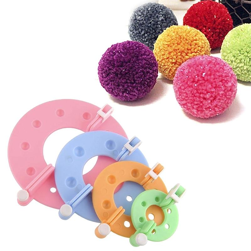 8pcs pompon manufacturer weaving craft making tool pompom maker hair ball ball making machine 4 sizes