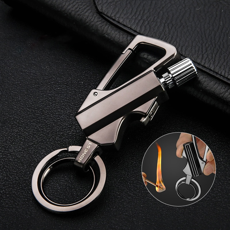 Metal Matches Lighters Smoking Accessories Outdoor Survival Supplies Cigar Cigarettes Lighter Gadget