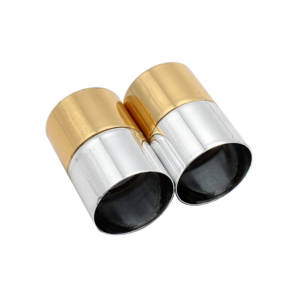 2 sets 18mm Inner Hole Half Silver And Gold Cylinder Magnetic Clasp, Big Size Magnet Fastener Connectors
