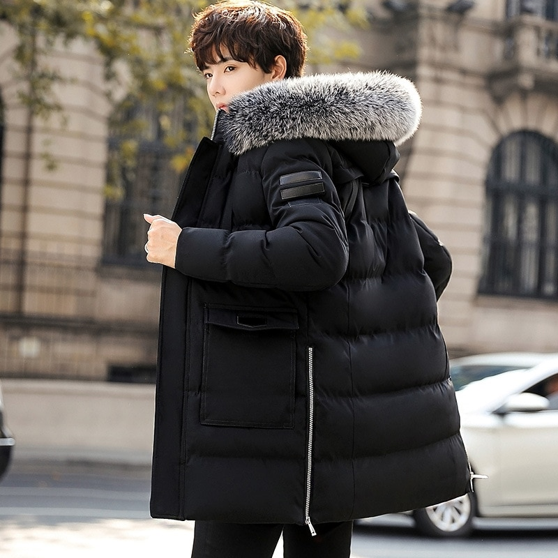 Parka Men Coats Winter Jacket Men Thicken Fur Hooded Outwear Warm Coat Top Brand Clothing Casual Veste Homme Top