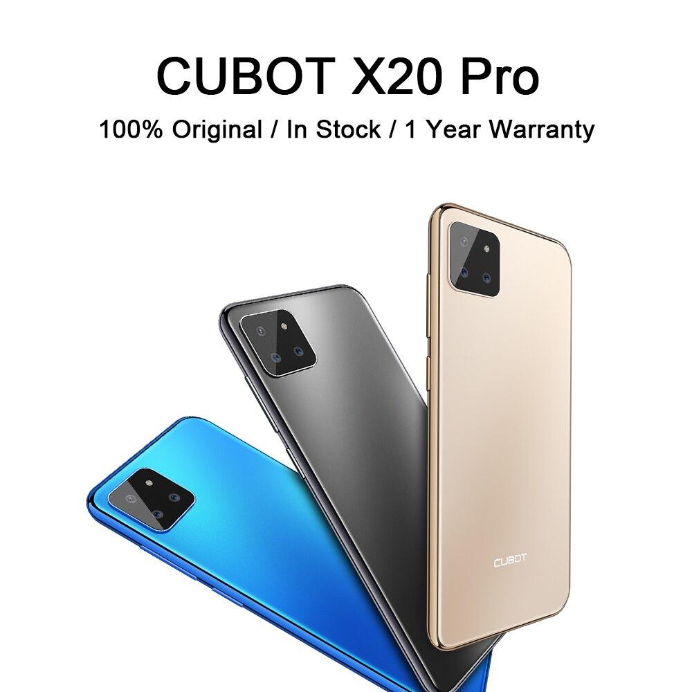 Перейти на Алиэкспресс и купить Чехол для CUBOT X20 Pro смартфон 128 ГБ Встроенная память 4000 мА/ч, Батарея Android мобильного телефона 6,3 ''капли воды Экран задние тройные Камера телефо...