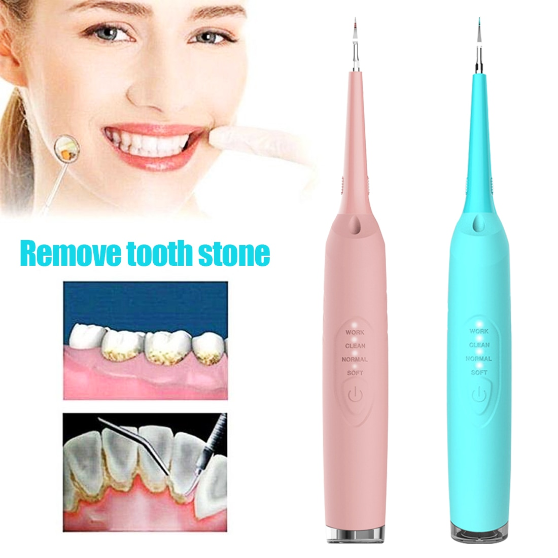 Waterproof Electric Sonic Dental Scaler Portable Tooth Calculus Remover Tartar Ultrasonic Teeth Whitening Cleaner Rechargeable ultrasonic calculus remover electric portable dental scaler ultrasonic tooth cleaner tartar plaque teeth whitening scaling tools