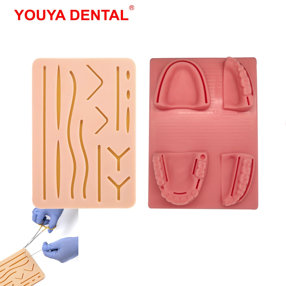 Фото - Dental Suture Practice Kit Medicine Oral Model Suture Pad Medical Skin Suture Surgical Training Kit For Doctors Dentist Students silicone artificial human skin oral teeth gum suture training kit common types of dental wounds dentist practice and training