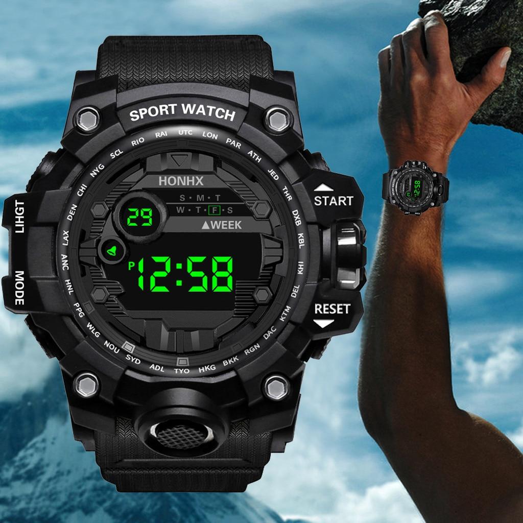 Outdoor Sport Watch Men Multifunction Chronograph 5Bar Waterproof Alarm Clock Digital Wristwatches R