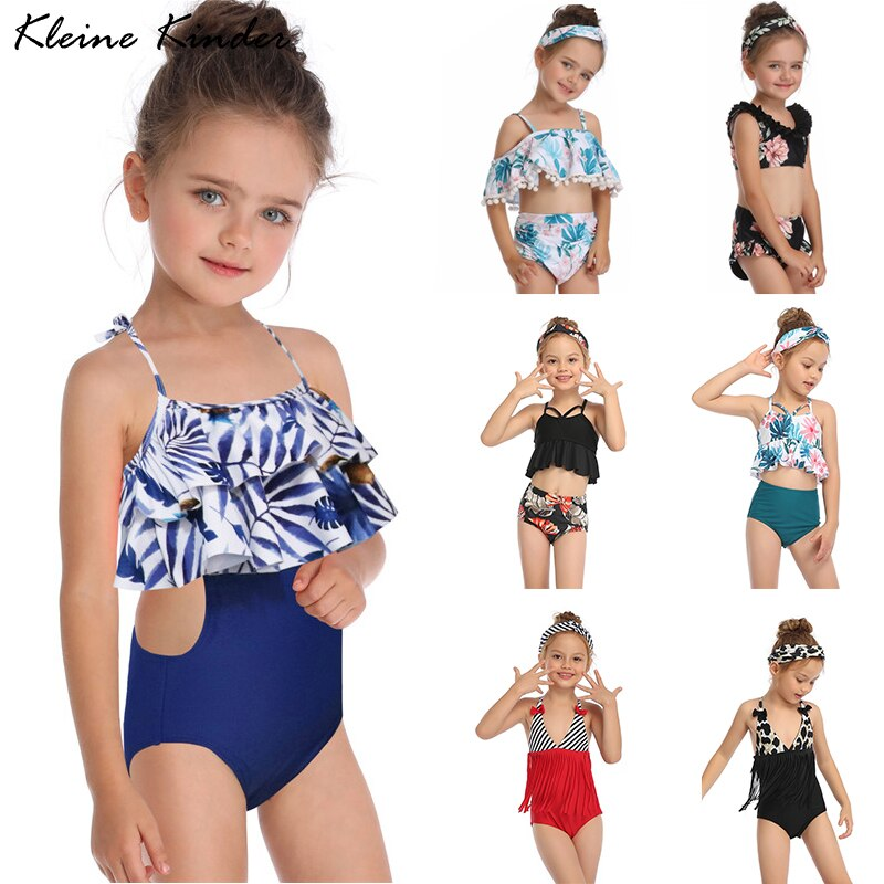 Bañador de niña, conjunto de Bikini para verano del 2020 con flecos, Bikinis para niños pequeños, traje de baño para niñas, traje de baño para niños