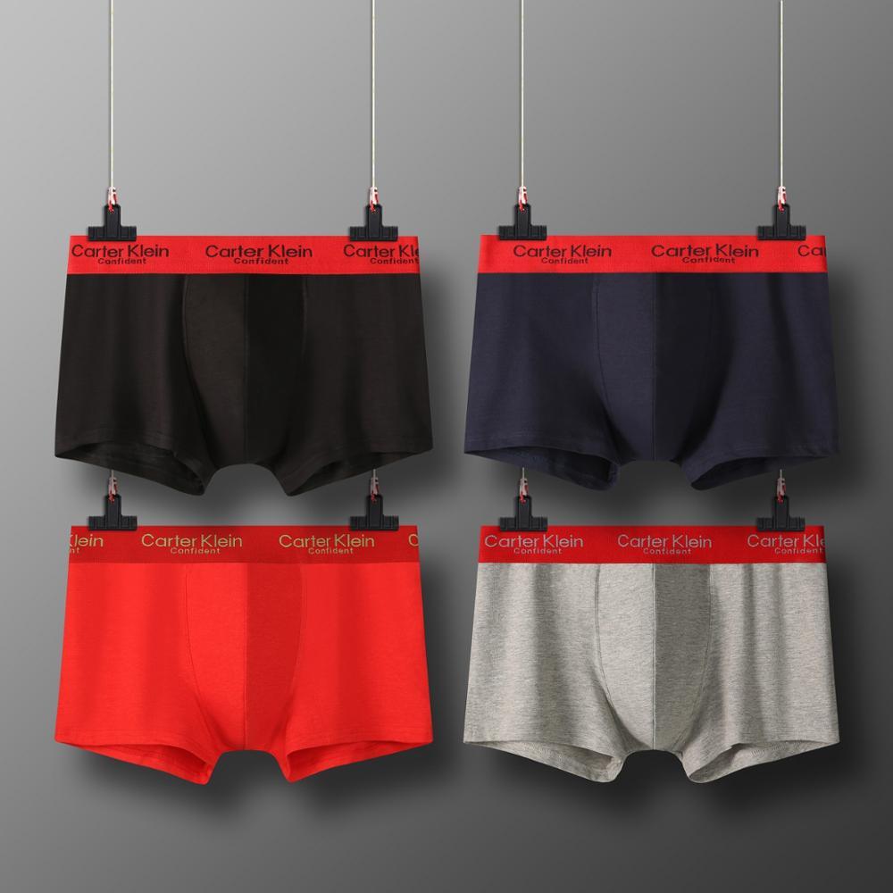 4/PCS  mens underwear ropa interior hombre boxershorts men  boxers boxer para hombre box  M-5XL sexy boxer horts breathable