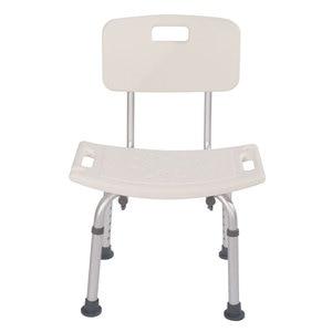 Bath Chair Bathroom Stool Heavy-duty Aluminum Alloy Old People Backrest Bath Chair CST-3012 White[US-W]