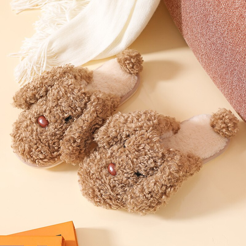 Winter women slippers fluffy fur cute cartoon slippers short plush home slippers couple shoes indoor warm soft woman shoes 2019 winter women home slippers family couple warm plush slippers indoor household woman shoes bedroom unisex comfortable soft