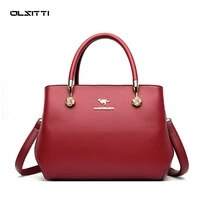 olsitti high quality solid color shoulder bags for women 2021 new designer bag luxury retro leather crossbody womens handbag