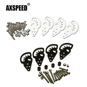 AXSPEED Black/Silver Metal Alloy Adjustable Shock Lift/Droop Towers Kit for Axial SCX10 1/10 RC Crawler Car Upgrade Parts