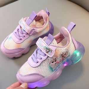 Size 22-31 Frozen Baby Casual Shoes Glowing Sneakers With Lights Elsa Luminous Shoes For Kids Boys Girls Children Led Sneakers