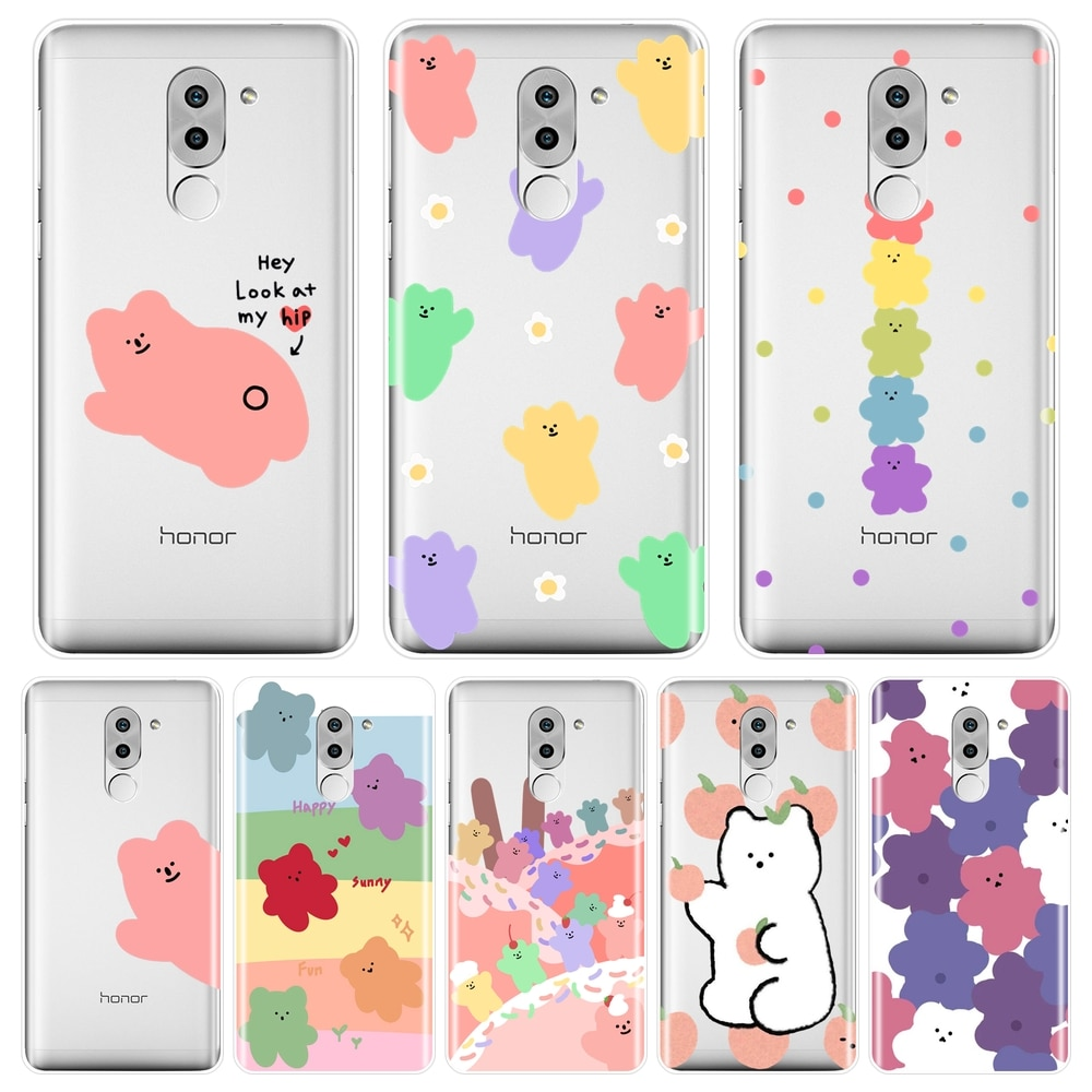 Telefon Fall Für Huawei Ehre 4X 5A 5X 6 6X Silikon Weiche Candy Bär Kawaii Nette Rosa Zurück Abdeckung Für huawei Ehre 6A 4C 5C 6C Pro