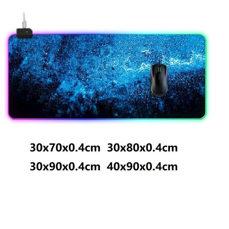 كبير الألعاب ماوس الوسادة RGB الخلفية ألعاب الفئران عدم الانزلاق الكمبيوتر المحمول حصيرة لوحة المفاتيح ماوس مقاوم للماء حصيرة مكتبية