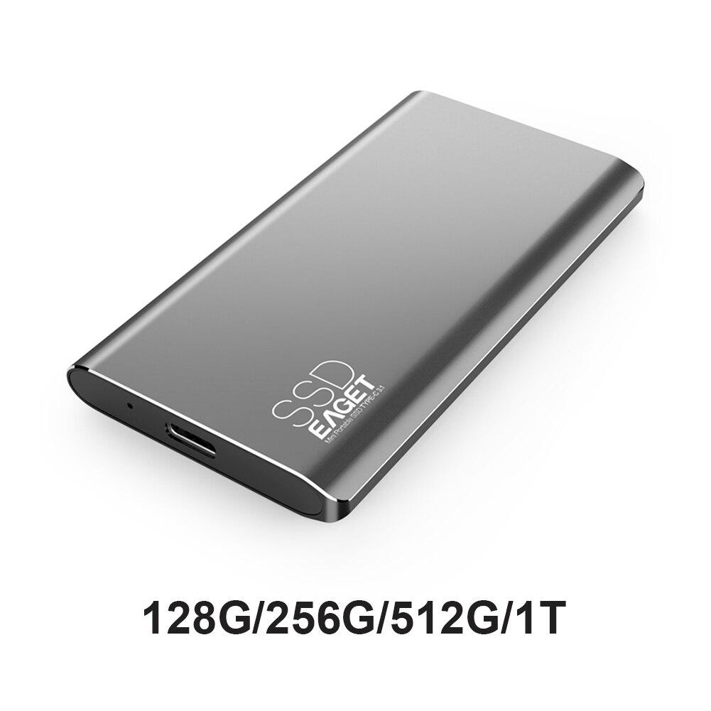 جديد Eaget M1 الخارجية محرك الحالة الصلبة رقيقة جدا المحمولة SSD 1 تيرا بايت 512GB 256GB 128 64gbusb 3.1 نوع C للكمبيوتر ماك محرك الحالة الصلبة