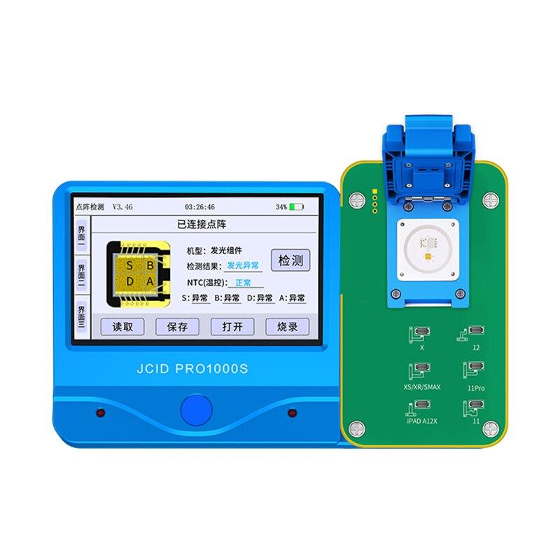 جهاز عرض نقطة اختبار مصفوفة الوجه من JC للهاتف X XR XS XSMAX 11 11PRO PROMAX أداة فحص هوية الوجه مع jc pro1000s