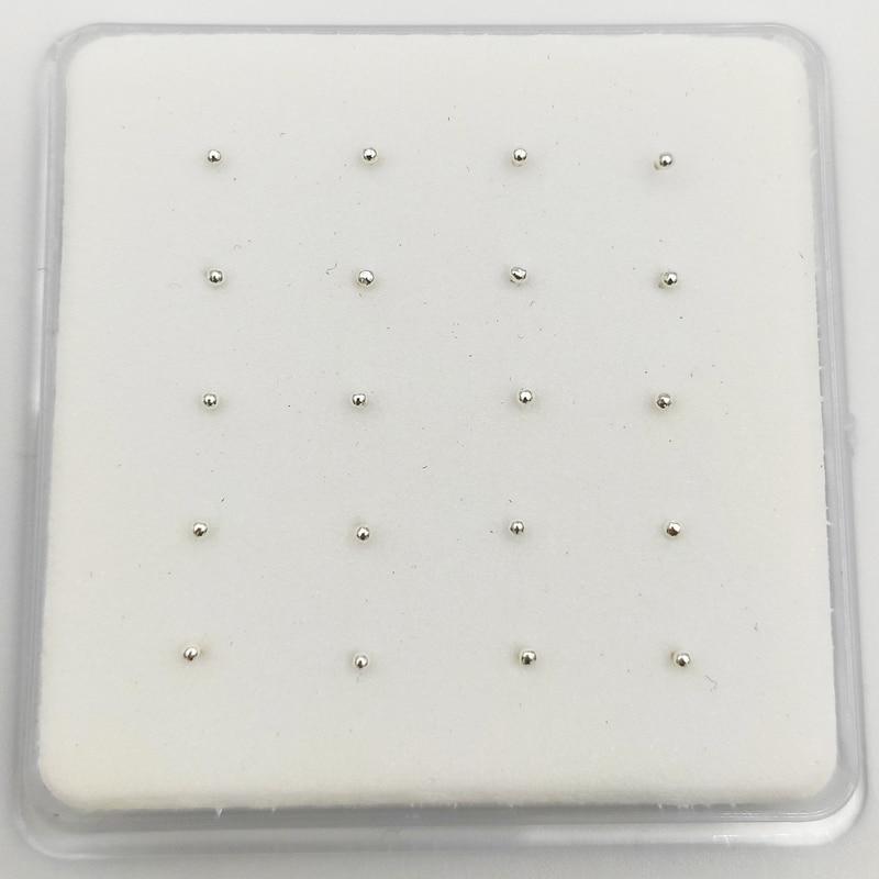 925 Sterling Silver 1.2 mm ball  Nose Studs Pins Bone  Piercing nez Body Piercing jewelry 20pcs/pack