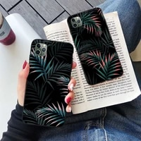 green leaf phone case for iphone 12 case for iphone 11 pro max xr 7 x xs max 8 6 6s plus se 2020 silicone soft funda coque cover