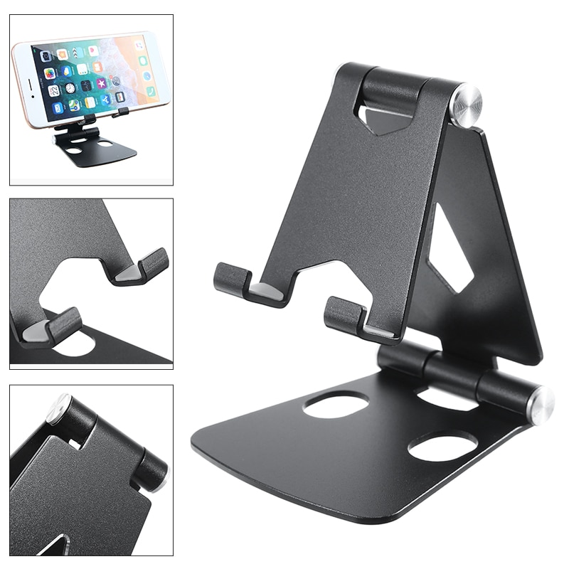 New Arrival 1pc Adjustable Aluminum Desk Stand Holder Mount For iPad Air Sam-sung Tablet i-Phone Acc