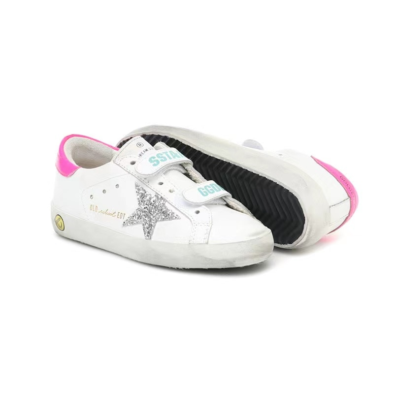 Spring and Summer New Children's Retro Dirty Shoes for Boys and Girls Casual Non-slip Wear-resistant Velcro kids Sneakers CS208 enlarge