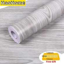 HaoHome серая обшивка и наклейка под древесину, настенная бумага, деревянная обшивка, съемная контактная бумага, самоклеящаяся серая обшивка с...