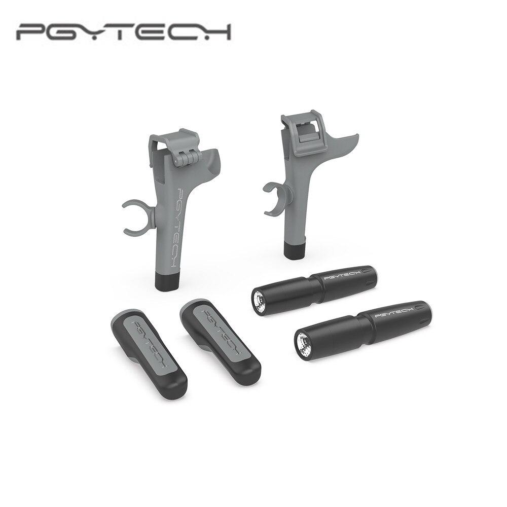 Pgytech mavic ar 2 trem de pouso com farol led conjunto apoio perna protetor extensão para dji mavic ar 2 drone