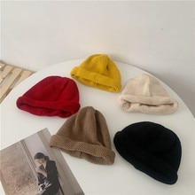 Internet Celebrity Korean Ins Knitted Woolen Cap Children Japanese Cute Autumn Winter Students All-M
