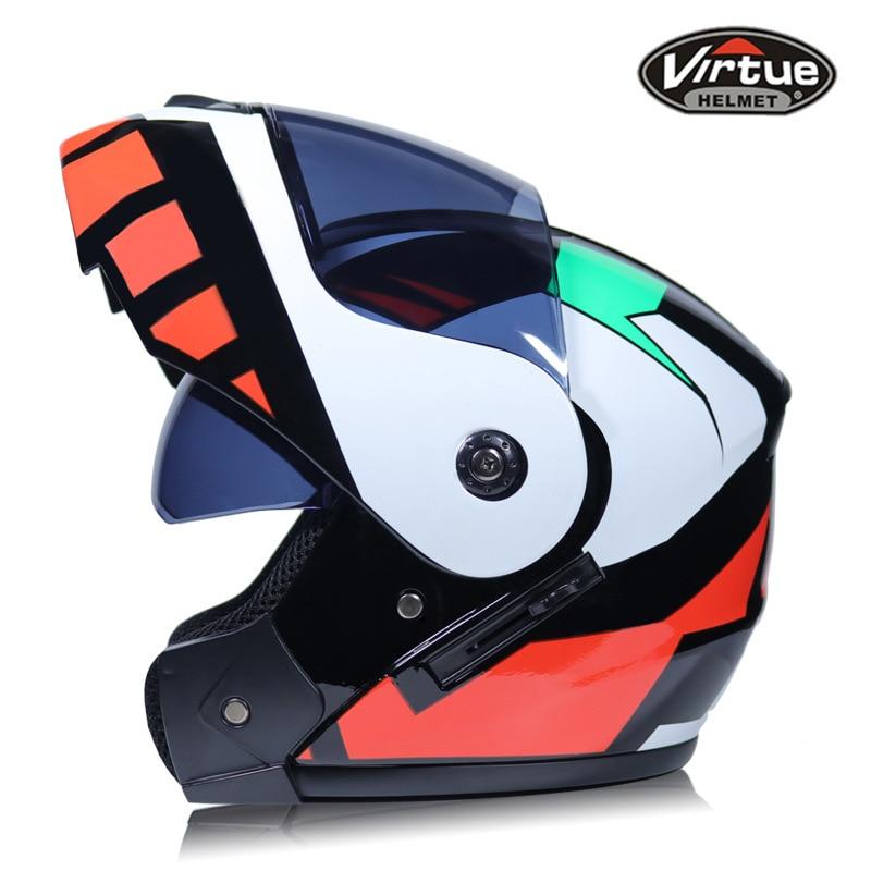 2 Gifts Unisex Men Women Racing Motocross Modular Dual Lens Motorcycle Full Face Safe Helmet Flip Up Cascos Para Moto enlarge