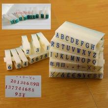 A to Z Letters Symbol Seal English Stamp Alphabet Combination Digital Number Pattern Ink Print DIY Crafts Scrapbooking Decor
