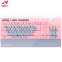 Asus ROG Strix Flare PNK mechanical gaming keyboard LTD Sakura Pink Crystal Color Cute Pink