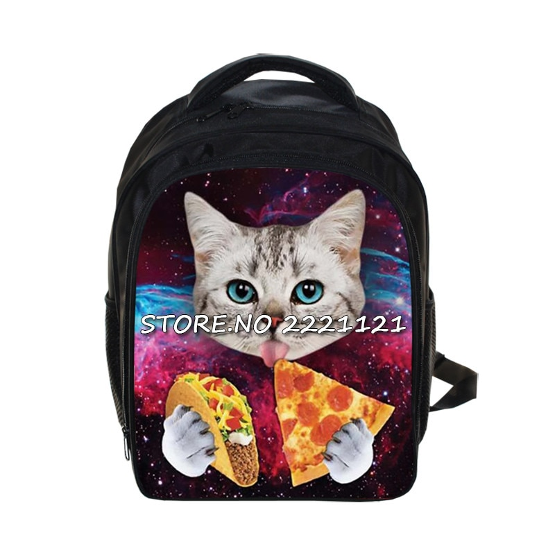 Kawaii 3D Tier Kätzchen Rucksack Nette Katze Essen Tacos Pizza Kinder Schule Taschen Kinder Kindergarten Rucksack Buch Tasche