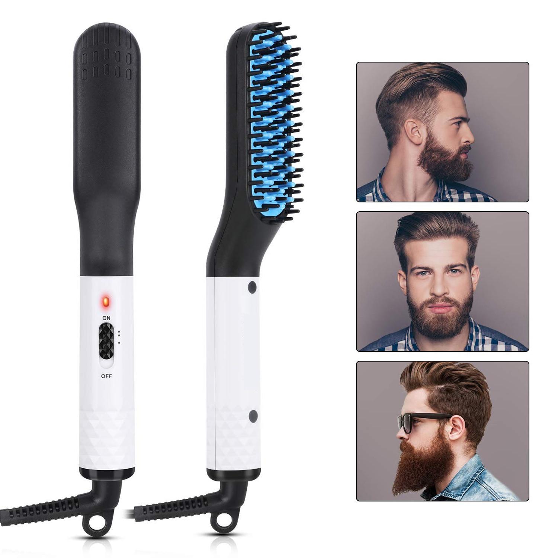 Hair Comb Brush Beard Straightener Multifunctional Hair Straightening Comb Hair Curler Quick Beard Hair Styler For Men's Beard
