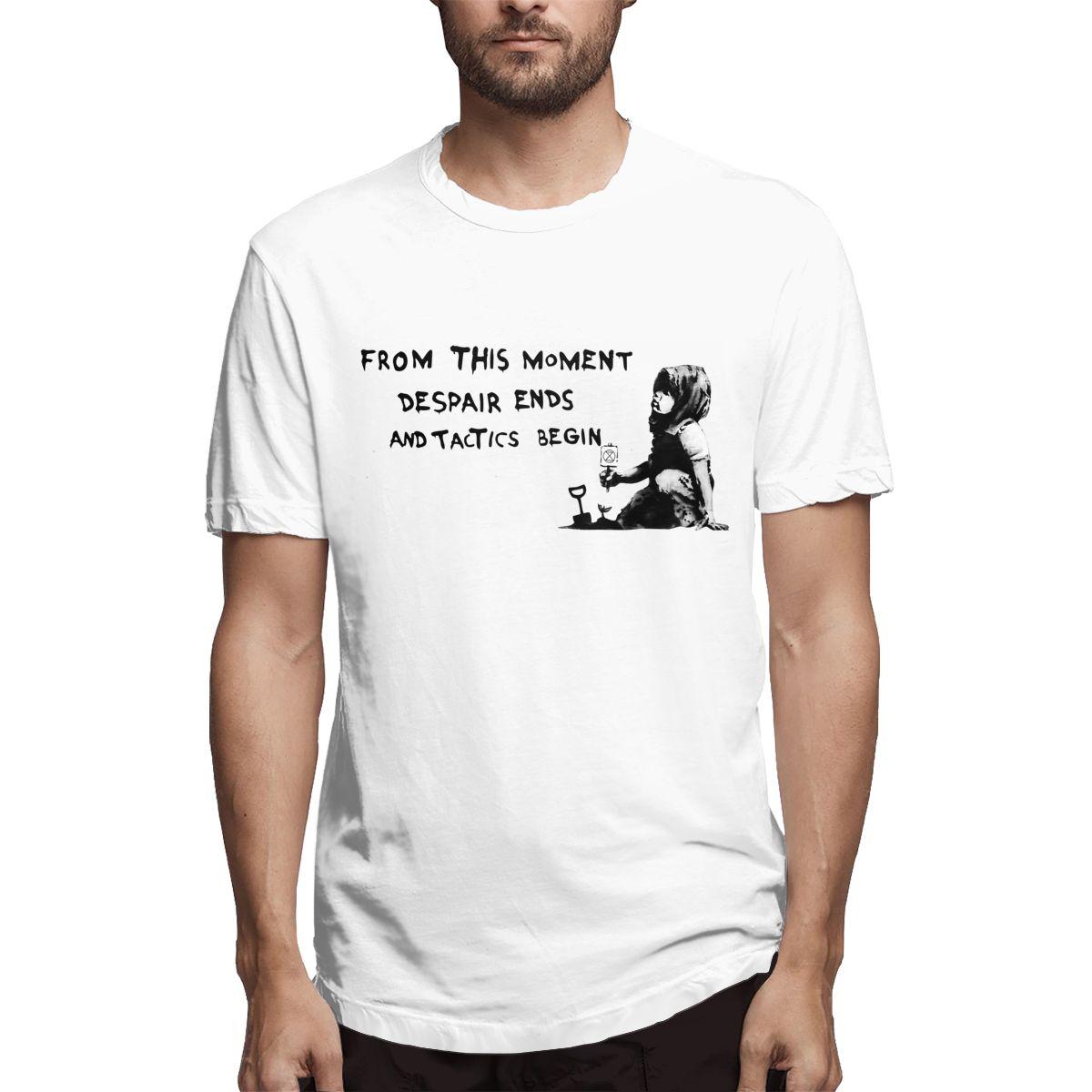 Banksy's Extinction Rebellion Anonymous Men Funny Tee Shirt Short Sleeve Crewneck T-Shirt Cotton Party Clothing