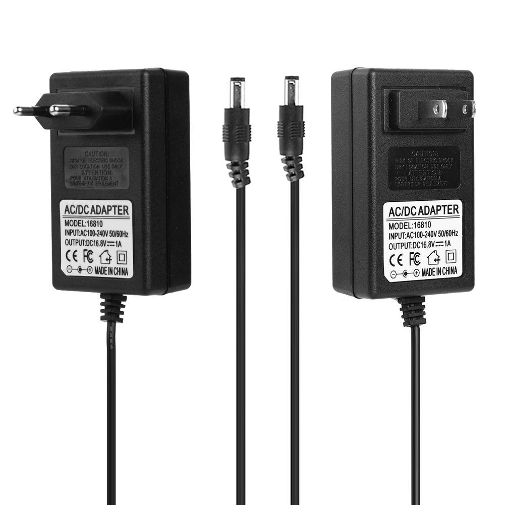 16.8V 1A Lithium Battery Charger DC5.5mm Plug Power Adapter Charger for 14.8-16.8V 18650 18490 14650 Battery with EU/US Plug