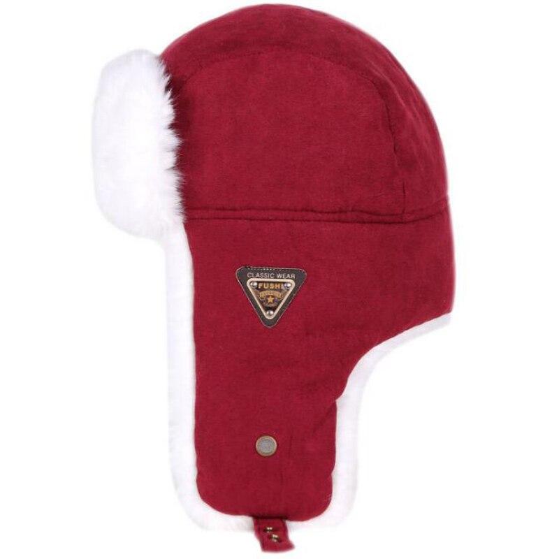 MZT533 Thick Warm Autumn Winter Fur Hat Men Women Russian Hat Male Female Snow Ski Earflap Trapper R