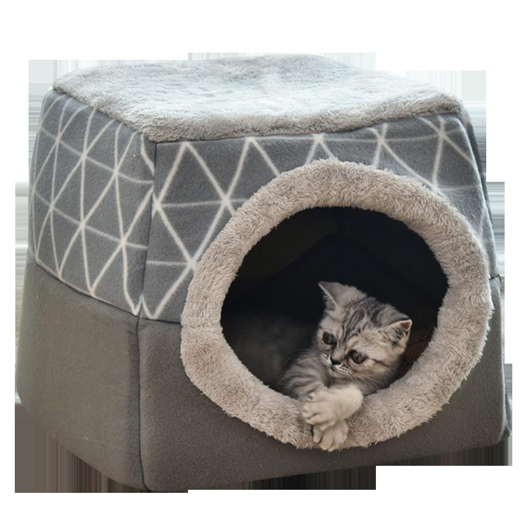 Casa para perros, perro, casa de cachemir, casa de gato a cuadros, casa de diamantes, suministros para mascotas, casa linda, gato, felpudo para dormir, productos de invierno