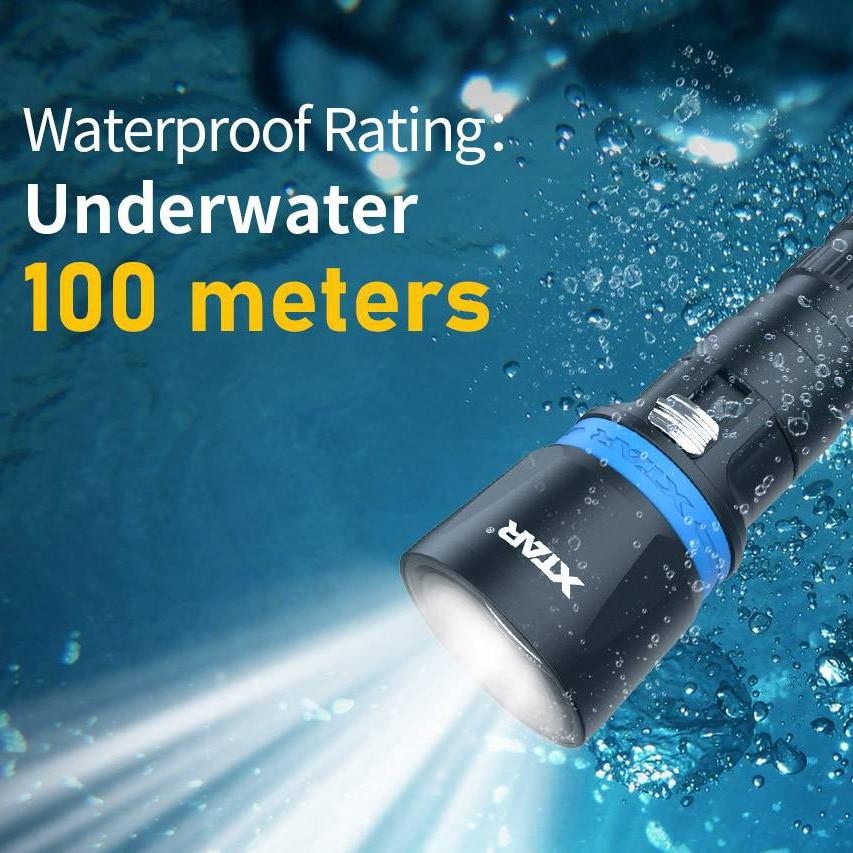 IPX8 Waterproof Diving Flashlight Professional Spearfishing LIGHT Super Bright Led Lamp 21700 Liion Battery XTAR DS1 Flashlight