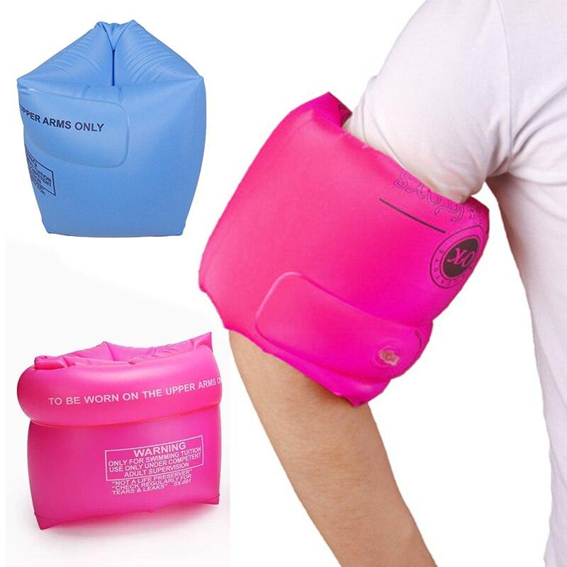 1 par de anillos de natación para niños y adultos, anillo de natación inflable de PVC con manga y brazo, anillo de natación inflable de entrenamiento de seguridad para el cuidado del bebé TXTB1
