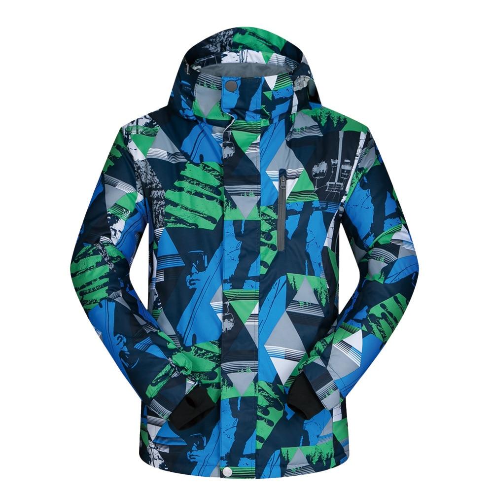 куртка zimtstern snow jacket vega men blue dark grey Winter Jacket Parkas for Men Wear Outdoor Long-sleeve Hooded Windproof and Waterproof Warm Snow Coat Blue Top Men Jacket