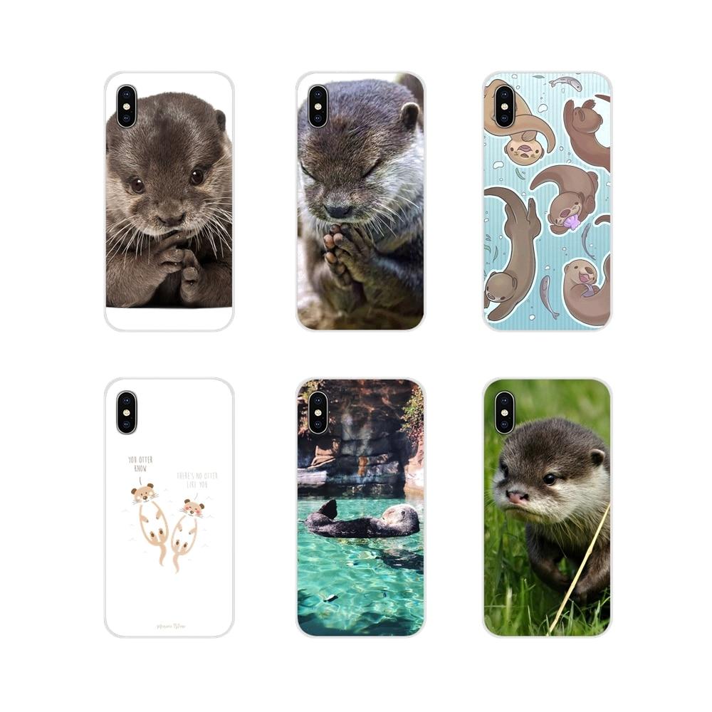 Para Oneplus 3T 5T 6T Nokia 2 3 5 6 8 9 230, 3310, 2,1, 3,1, 5,1, 7 Plus de 2017 de 2018 animales de bebé lindo nutria patrón Carcasa protectora de teléfono