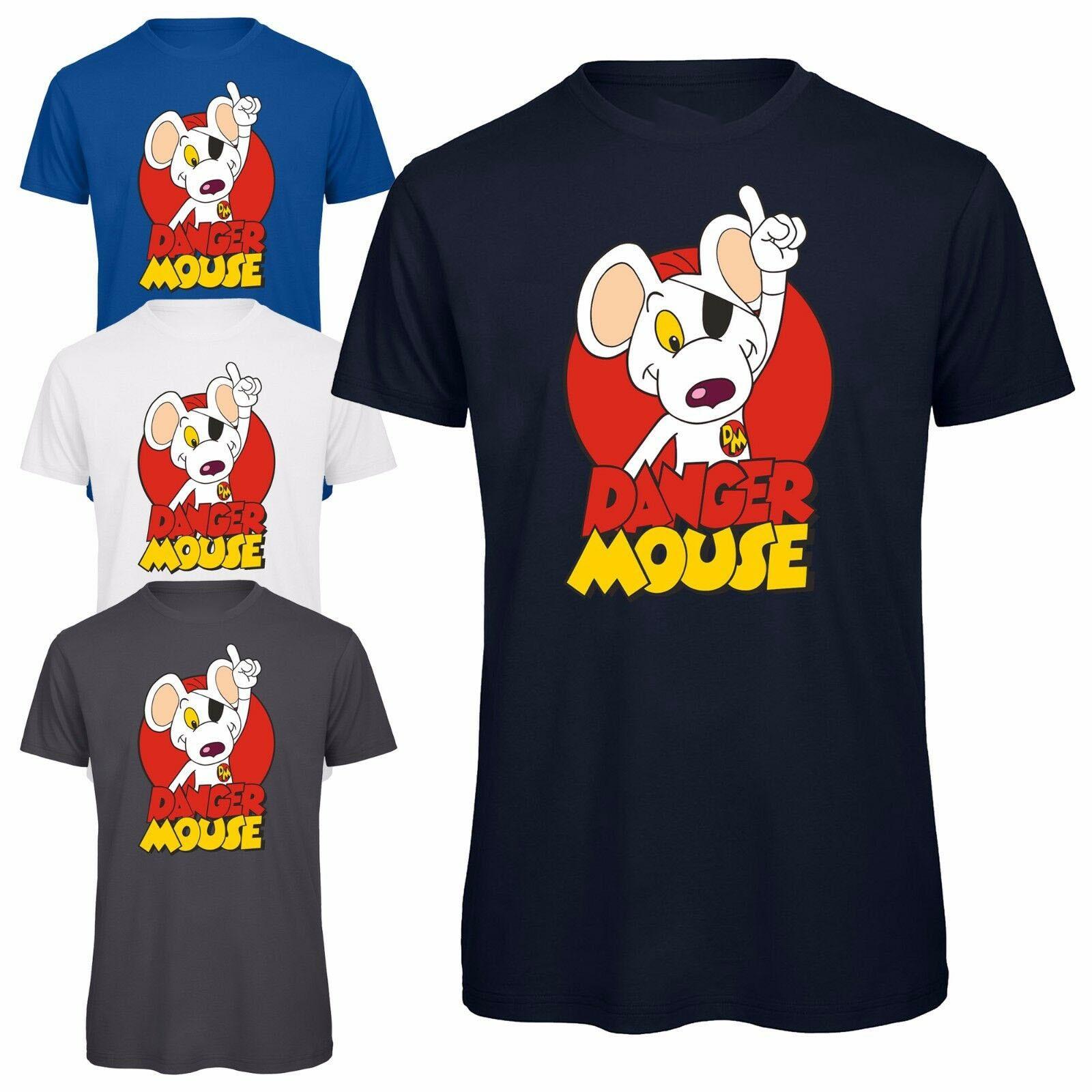 Camiseta con personaje de ratón peligroso, camiseta Retro con licencia para hombres y mujeres, camiseta Popular de dibujos animados sin etiqueta