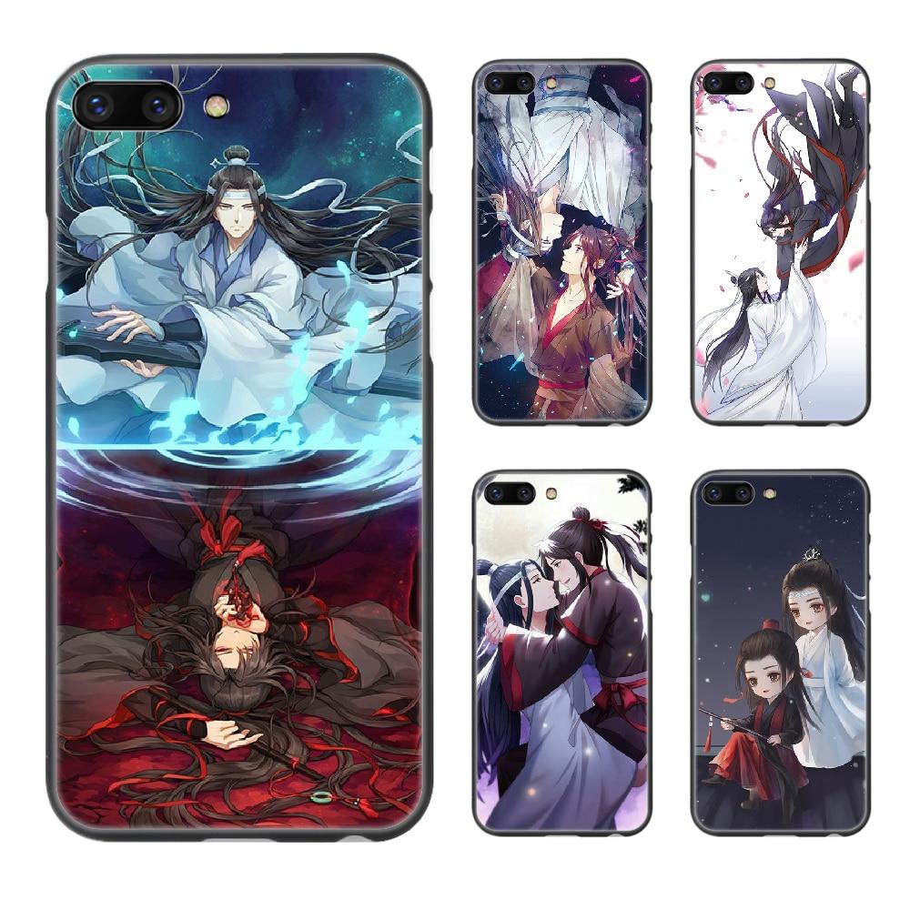 Mo Dao Zu Shi Anime teléfono caso cubierta de casco para iphone 5 5s se 2 6s 6 7 8 plus X XS X XR 11 PRO MAX coque negro tendencia hoesjes de lujo