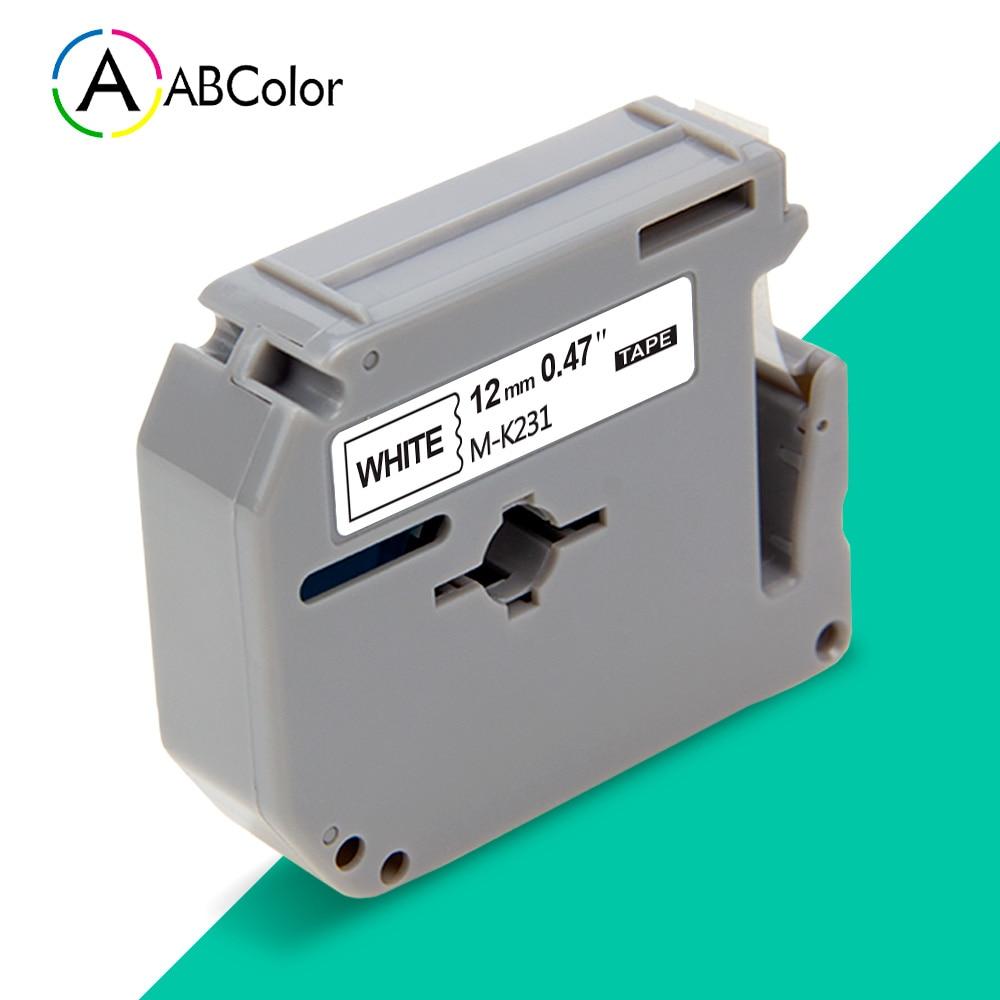 Etiqueta de MK-231 negra y blanca Compatible con Brother MK 231, cinta de 12mm mk231 para impresora de etiquetas Brother P touch