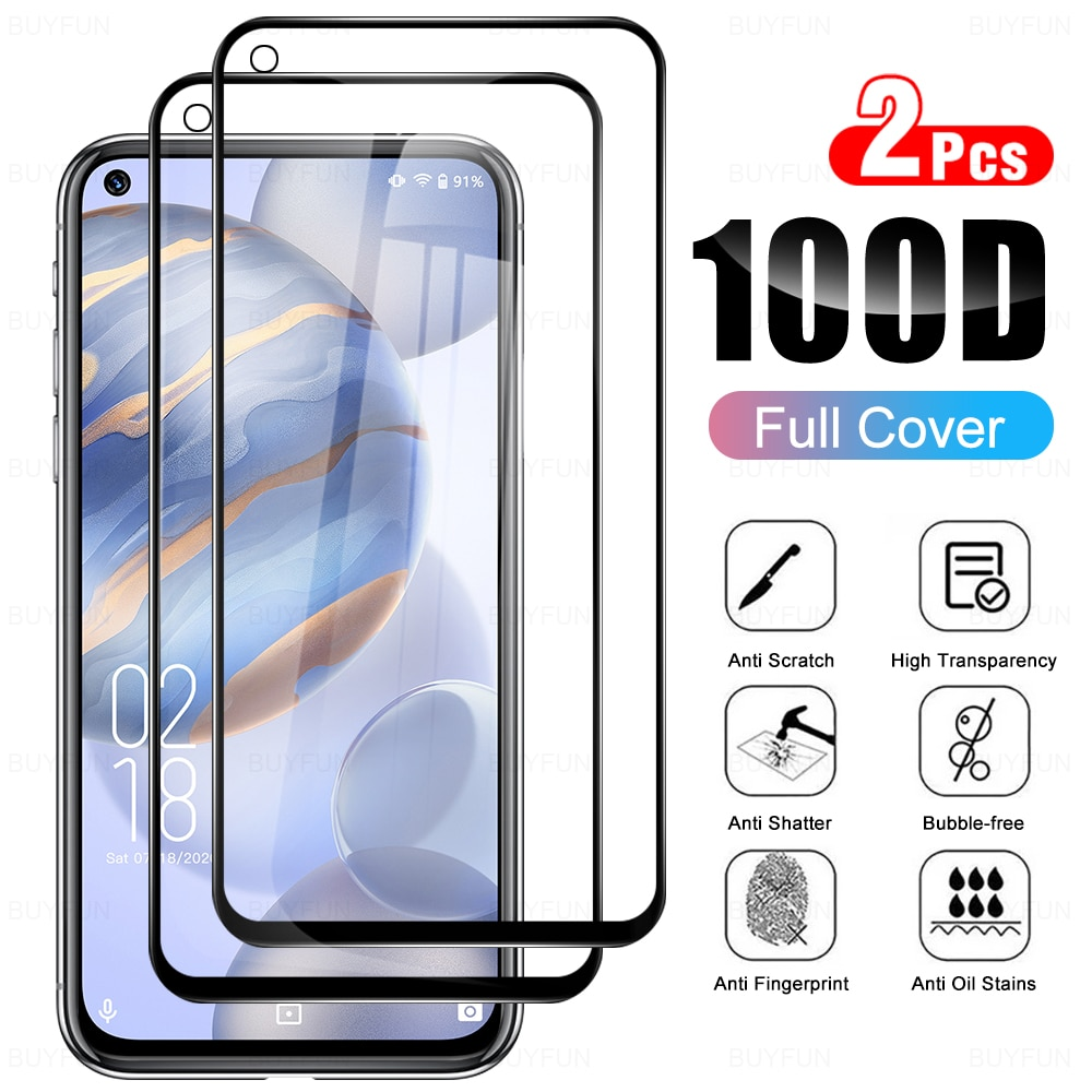 2pcs-protective-tempered-glass-cover-for-oukitel-c21-glas-full-cover-screen-protector-for-oukitel-c21-64-inches-protection-film