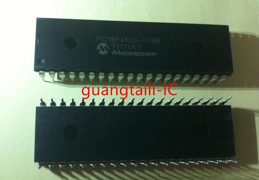 5 uds PIC18F4550-I/P PIC18F4550 DIP-40 8BIT 32KB FLASH Microcore controlador original nuevo