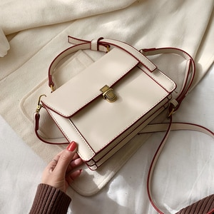 Fashion Leather Crossbody Bags For Women High Quality  Solid Colors Shoulder Bag Female Handbags and Purses With Handle