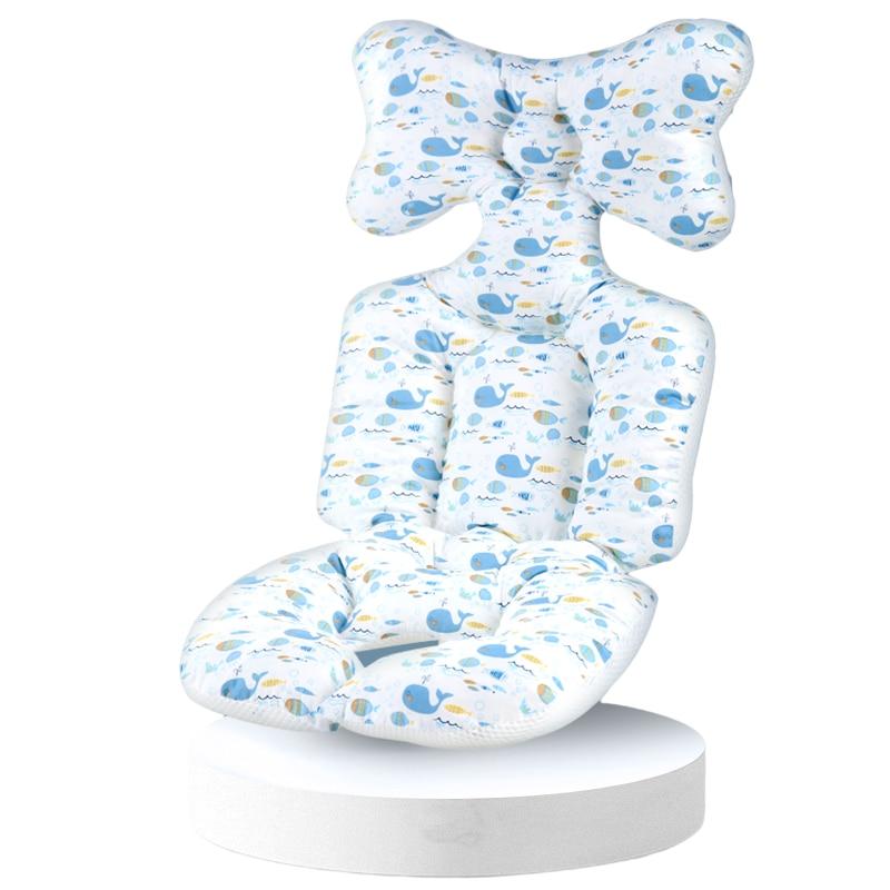 Подушка на сиденье для детской коляски, подкладка на сиденье из хлопка, матрас для детской коляски, аксессуары для детской коляски