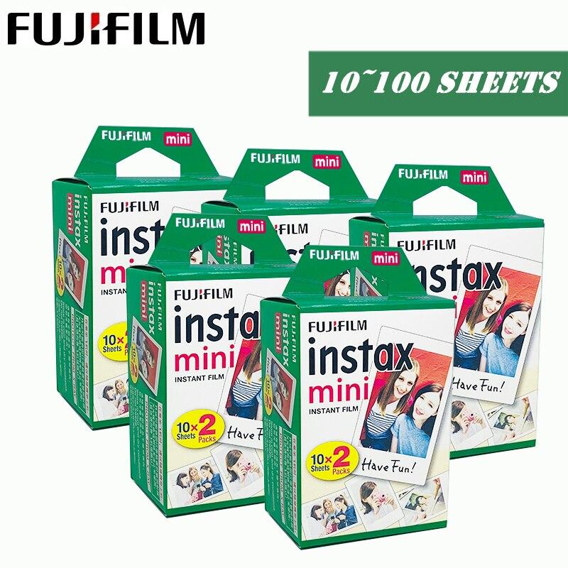 100 hojas para fujifilm instax mini 9 8 películas borde blanco películas para instant mini 9 8 7s 25 50s 9 90 Cámara Sp-2 papel