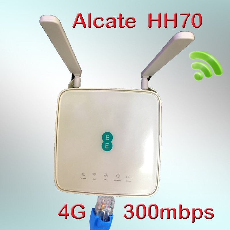unlocked Alcatel LinkHub HH70 EE 300mbps LTE Cat7 Alcatel HH70vb 4G router 4g wifi sim card 300mbs wifi home hub router 5g cpe