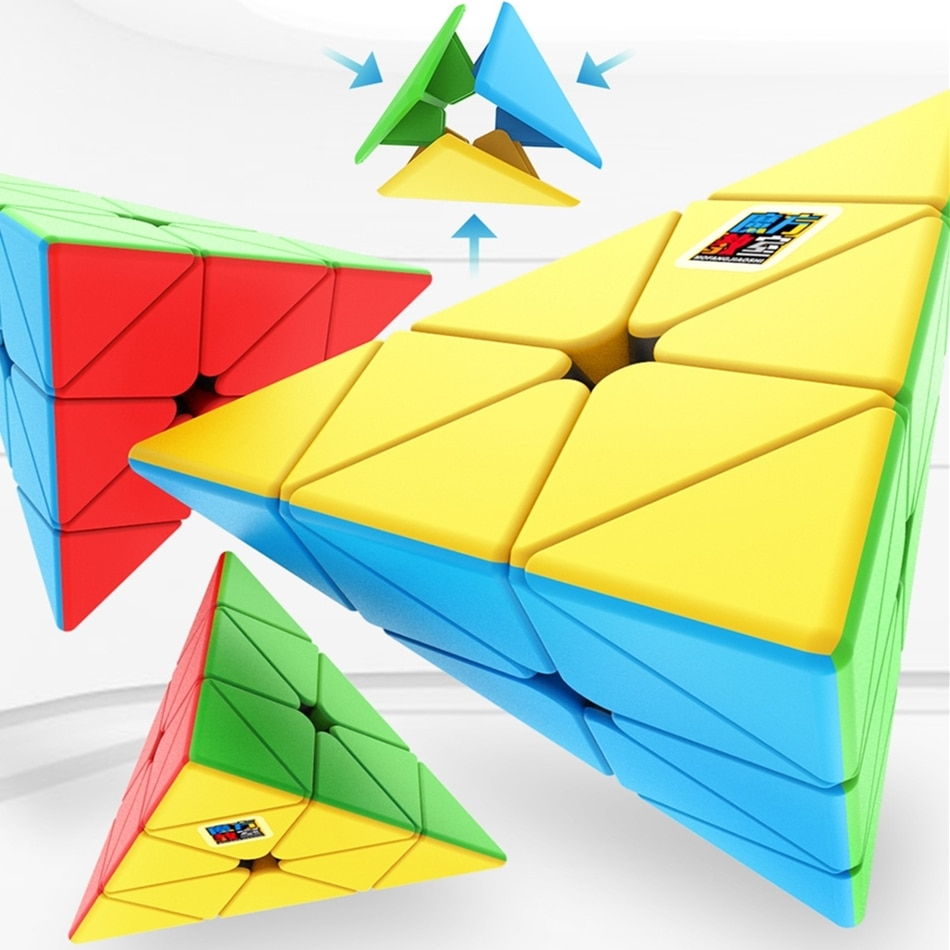 MoYu Meilong 3x3 кубик рубика Развивающие игрушки Пирамида головоломка магический куб